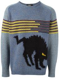 свитер с изображением кошки  Fendi
