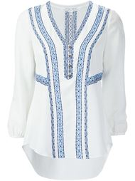 embroidered V-neck blouse Veronica Beard