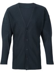 snap button pleated cardigan Homme Plissé Issey Miyake