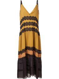 свободное платье с аппликацией из кружева Maiyet