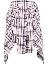 юбка с завязкой и геометрическим принтом Vivienne Westwood Anglomania