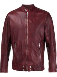 zipped leather jacket Diesel