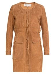 однобортное пальто с прошитыми деталями  Emilio Pucci