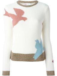 свитер с изображением ласточки  Red Valentino