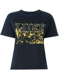 футболка с контрастным принтом Sacai