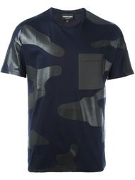 футболка с камуфляжным принтом  Emporio Armani