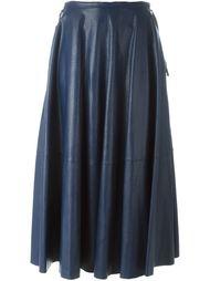 длинная юбка со складками Mm6 Maison Margiela