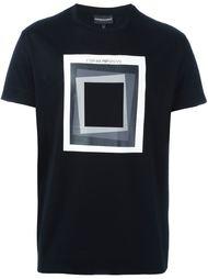 футболка с принтом квадрата  Emporio Armani