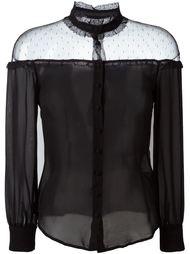 блузка с прозрачной вставкой  Red Valentino