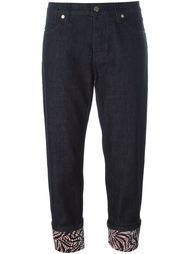 укороченные джинсы с подворотами Marni