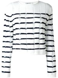 distressed knit striped jumper T By Alexander Wang