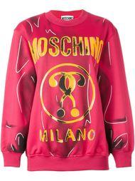 толстовка с логотипом  Moschino