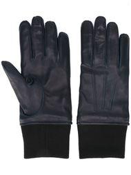 перчатки с отделкой в рубчик Lanvin