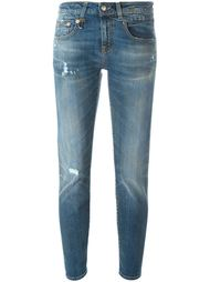 skinny fit distressed jeans R13