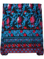 floral embroidery off-shoulder blouse Tanya Taylor