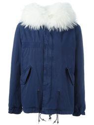 raccoon fur trim jacket Mr & Mrs Italy