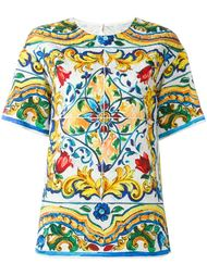 футболка с узором 'Carreto Siciliano' Dolce & Gabbana