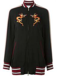 куртка с вышитым драконом Valentino