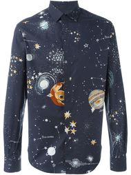 рубашка с принтом космоса Valentino