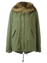 rabbit and raccoon fur lined jacket Mr & Mrs Italy