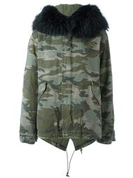 raccoon fur trim jacket Mr & Mrs Italy