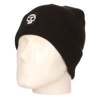 Шапка Zero Single Skull Patch Beanie Black