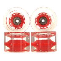 Колеса для скейтборда для лонгборда Sunset Long Board Wheel With Abec9 Red 78A 69 mm