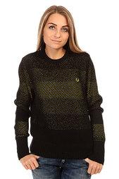 Свитер женский Fred Perry Space Dye Design Sweater Black/Yellow