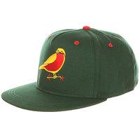 Бейсболка с прямым козырьком Запорожец Птичка Green