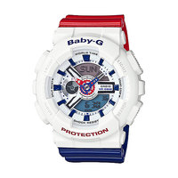 Кварцевые часы детские Casio G-Shock Baby-g Ba-110tr-7a White/Blue/Red