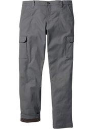Термо-брюки, низкий + высокий рост (U + S) (дымчато-серый) Bonprix