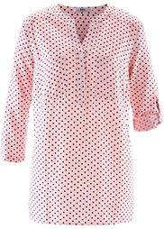 Блуза с рукавами 3/4 (розовая пудра/темно-синий в го) Bonprix