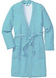 Трикотажный халат (светло-серый меланж/цвет белой) Bonprix