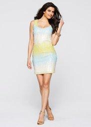 Платье с пайетками (бирюзовый/нежно-желтый/кремовы) Bonprix