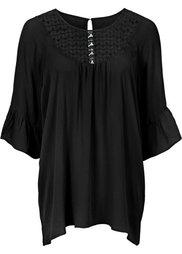 Блузка с кружевной вставкой (морская зелень) Bonprix