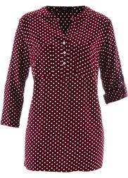Блуза с рукавами 3/4 (нежно-розовый/кленово-красный ) Bonprix