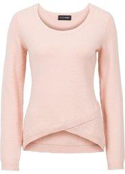 Пуловер с эффектом запаха (цвет белой шерсти) Bonprix