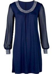 Платье с аппликациями из стразов (ярко-розовый) Bonprix