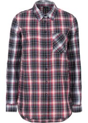 Удлиненная клетчатая блузка (красный в клетку) Bonprix
