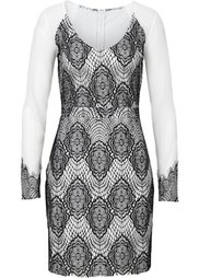 Платье с кружевом (светло-коричневый/черный) Bonprix