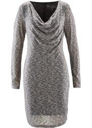 Вязаное платье (кленово-красный/черный меланж) Bonprix