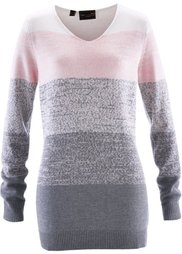 Пуловер с кашемиром ПРЕМИУМ (синий лед/бурый) Bonprix