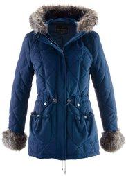 Стеганая куртка с искусственным мехом (кленово-красный) Bonprix