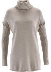 Пуловер (темно-коричневый) Bonprix