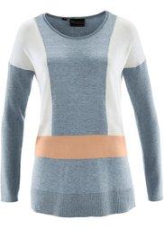 Пуловер с кашемиром (бурый/абрикосовый) Bonprix
