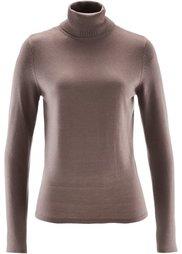 Пуловер с кашемиром ПРЕМИУМ (серый меланж) Bonprix