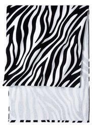 Пляжное полотенце Зебра (черный/белый) Bonprix