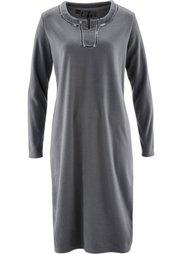 Флисовое платье (черный с рисунком) Bonprix