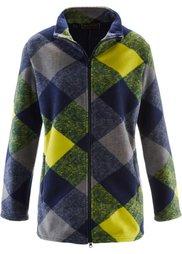 Флисовая куртка (серый меланж/темно-синий/оранж) Bonprix