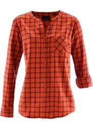 Фланелевая клетчатая рубашка (темно-синий/фисташковый в клет) Bonprix